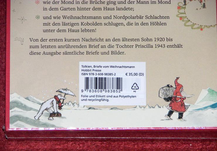 Bild 6: Buch von J. R. R. Tolkien *Briefe vom Weihnachtsmann *Luxusausgabe im Schuber