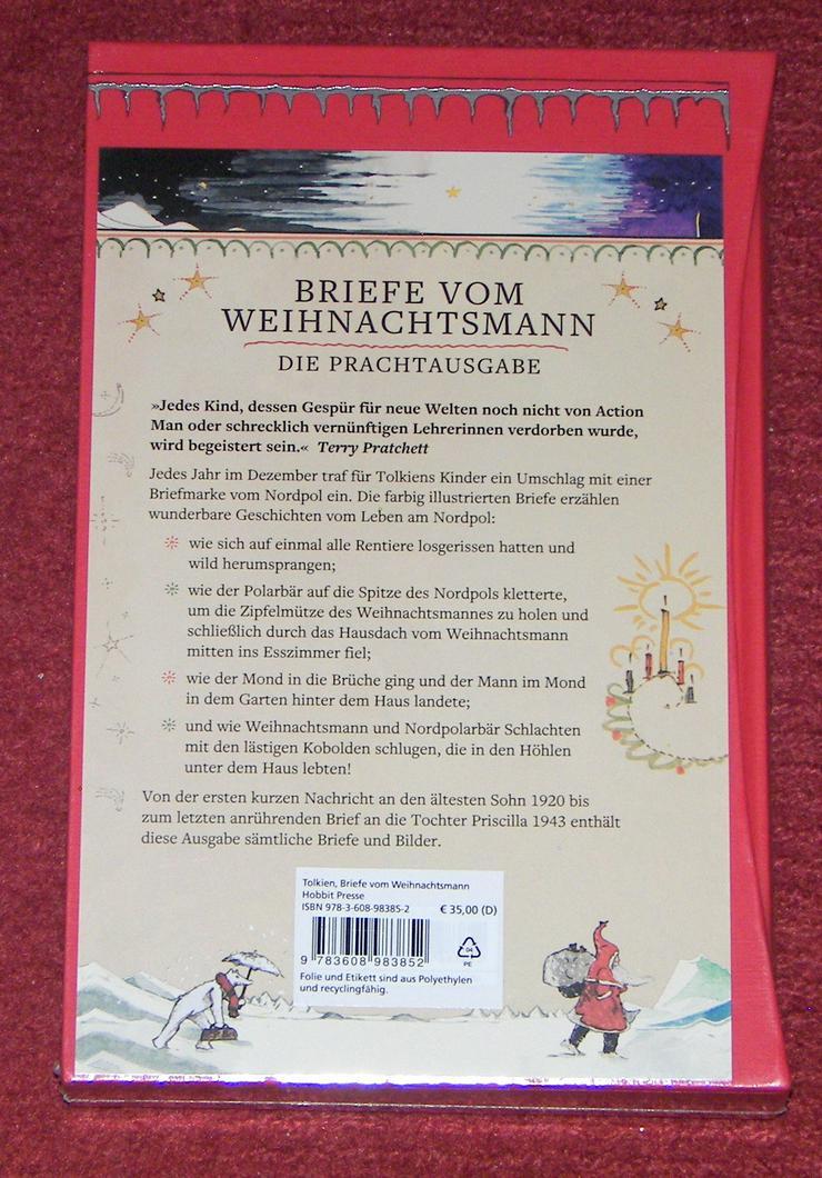 Bild 5: Buch von J. R. R. Tolkien *Briefe vom Weihnachtsmann *Luxusausgabe im Schuber