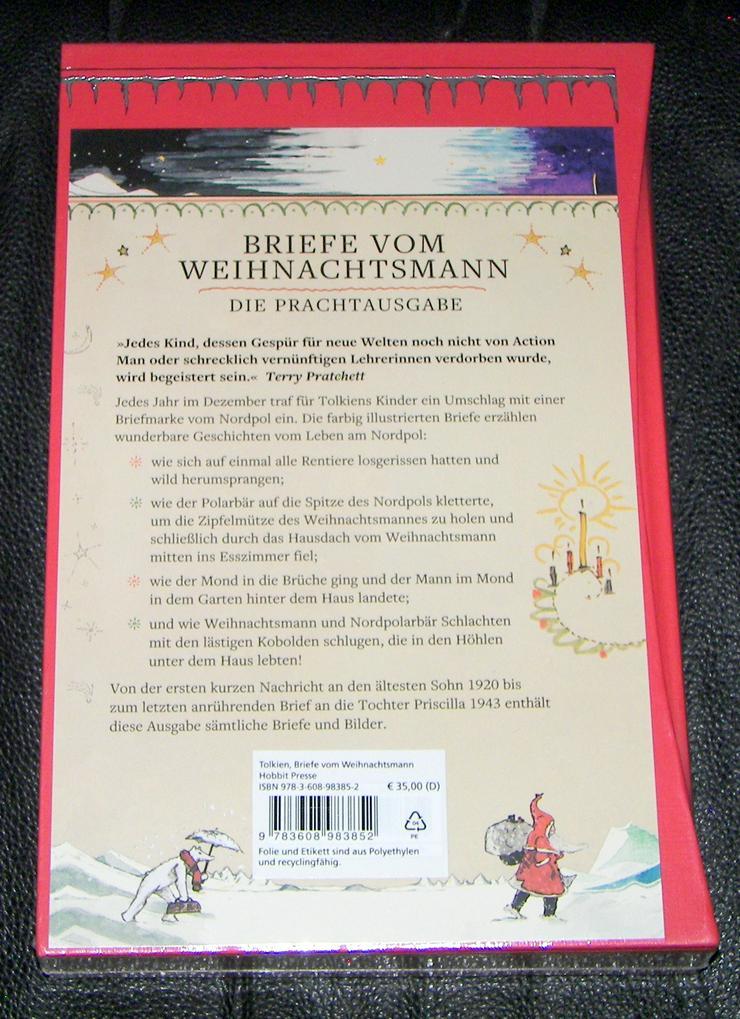 Bild 3: Buch von J. R. R. Tolkien *Briefe vom Weihnachtsmann *Luxusausgabe im Schuber