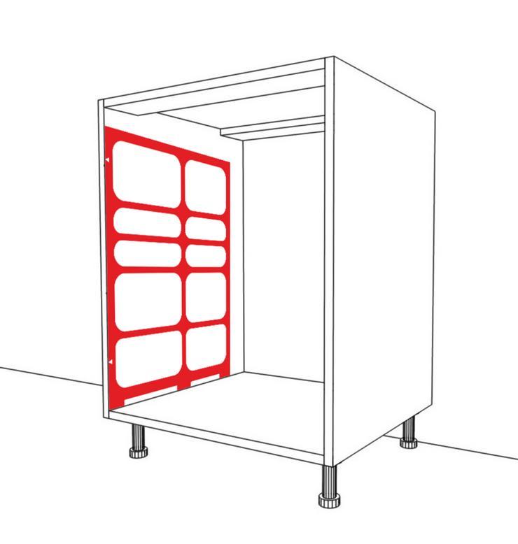 Vorlage zur Montage von Schubladen Blum Tandembox GTV Modernbox