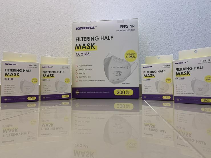 Bild 2: ab 0,45€ ✅Geprüfte zertifizierte Keholl FFP2 Maske sofort lieferbar