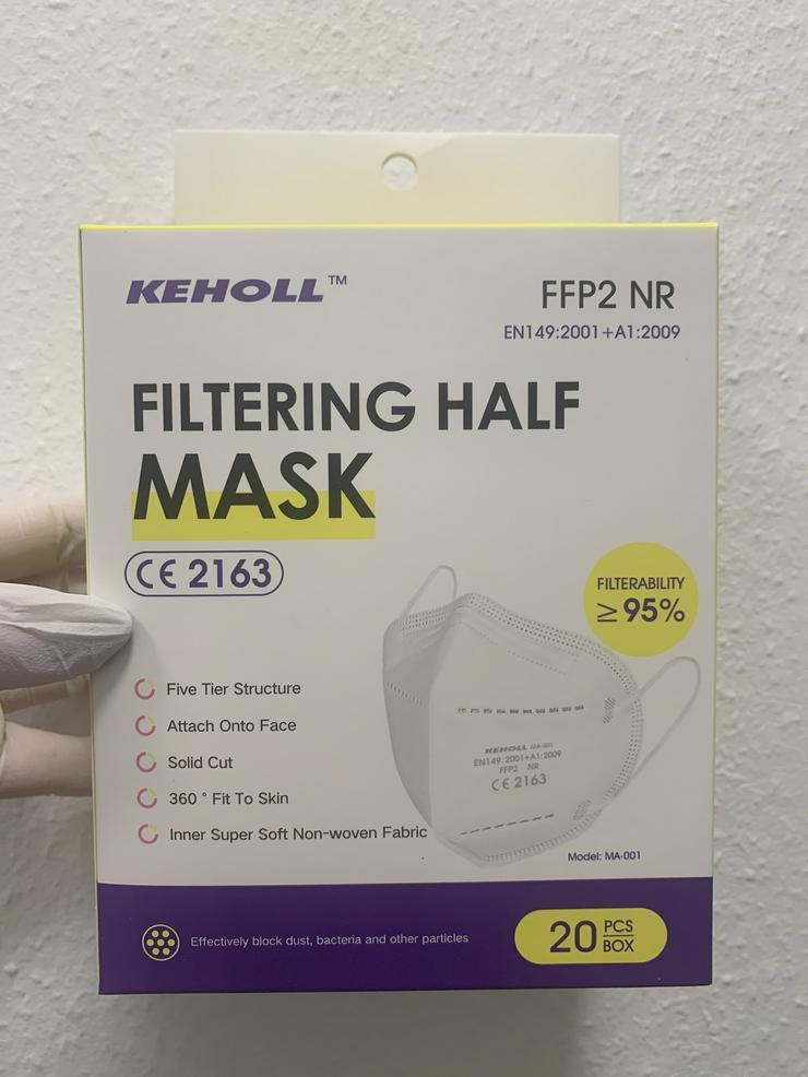 Bild 10: ab 0,45€ ✅Geprüfte zertifizierte Keholl FFP2 Maske sofort lieferbar