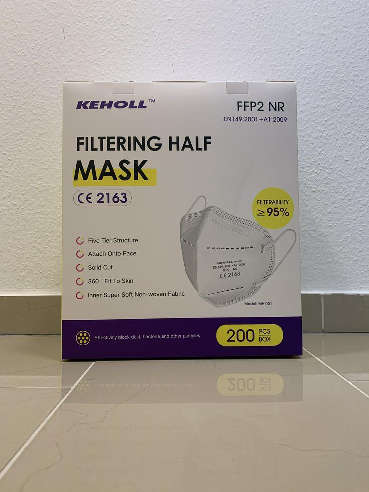 Bild 6: 60 x FFP2 NR Maske Keholl✅ Geprüft und mit Zertifikat✅