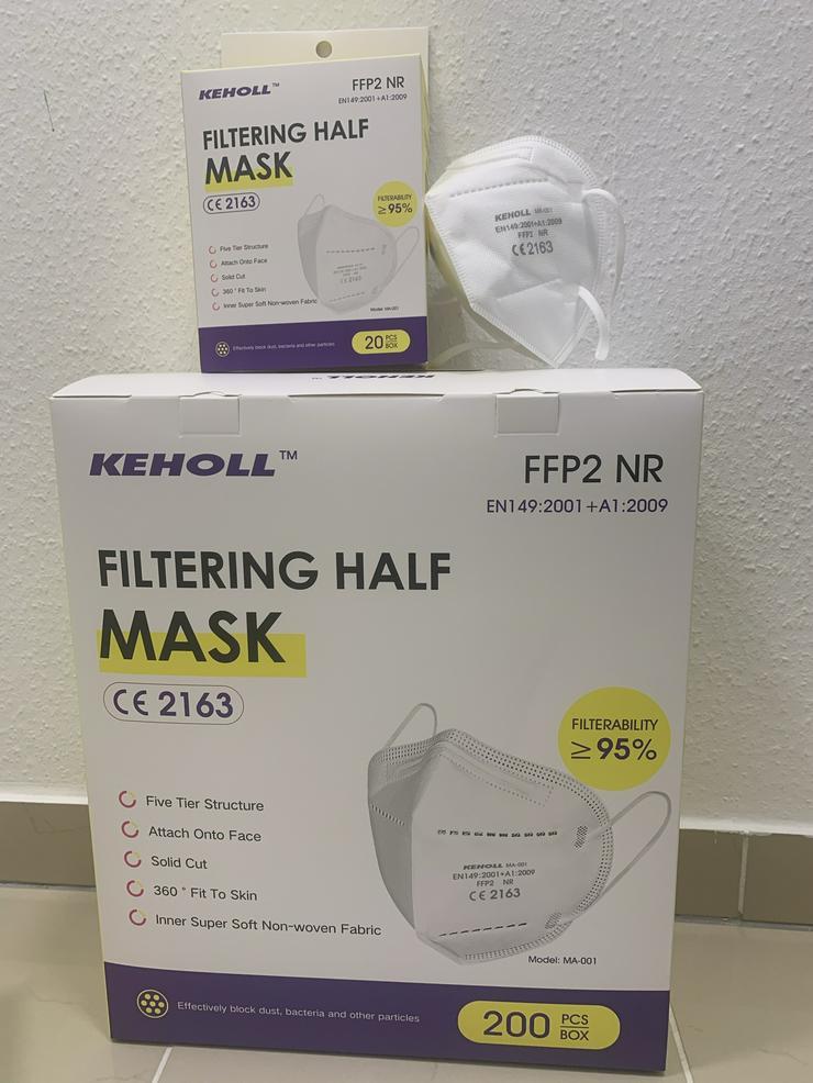 Bild 3: 60 x FFP2 NR Maske Keholl✅ Geprüft und mit Zertifikat✅
