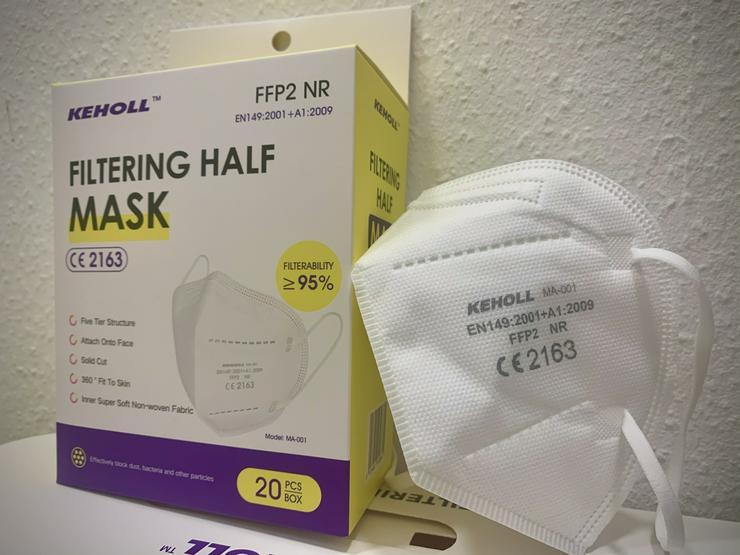 Bild 4: 60 x FFP2 NR Maske Keholl✅ Geprüft und mit Zertifikat✅