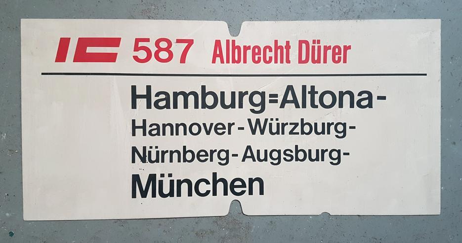 Orig. Zuglaufschild DB Deutsche Bundesbahn