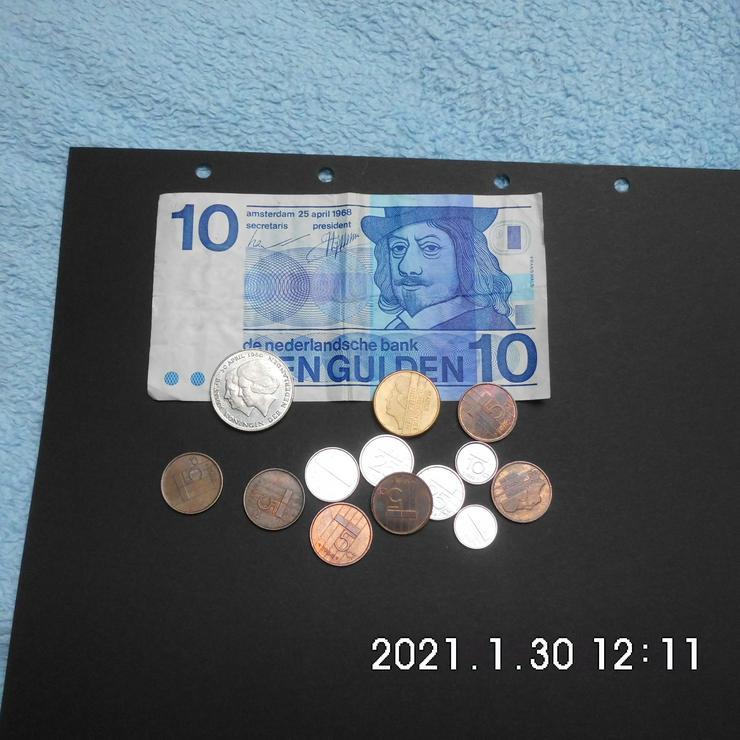 Niederlande 10 Gulden Schein +Münzen - Europa (kein Euro) - Bild 1