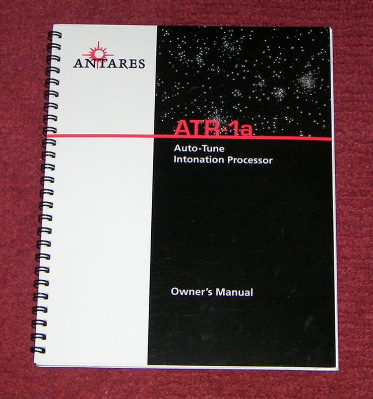 Bedienungsanleitung deutsch für Antares ATR-1a Auto Tune Pitch Intonations /Correction Processor  Owner's Manual