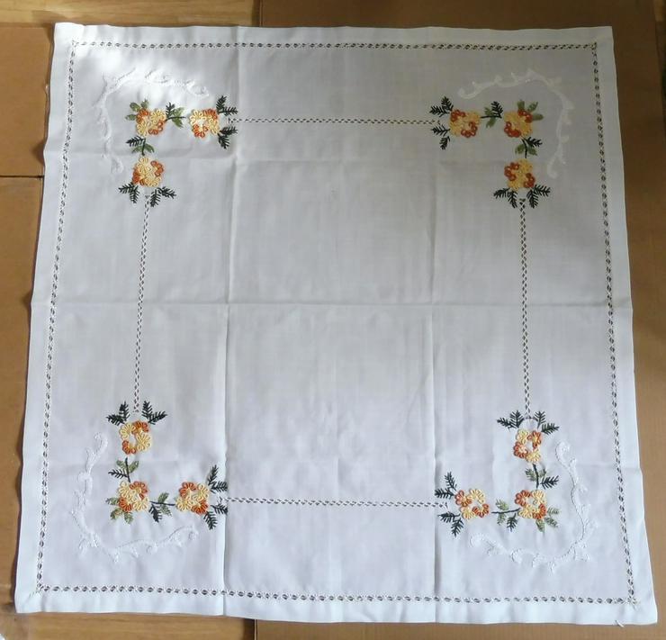 Viereckige Tischdecke / quadratisch 85X85 - Blumen-Ecke