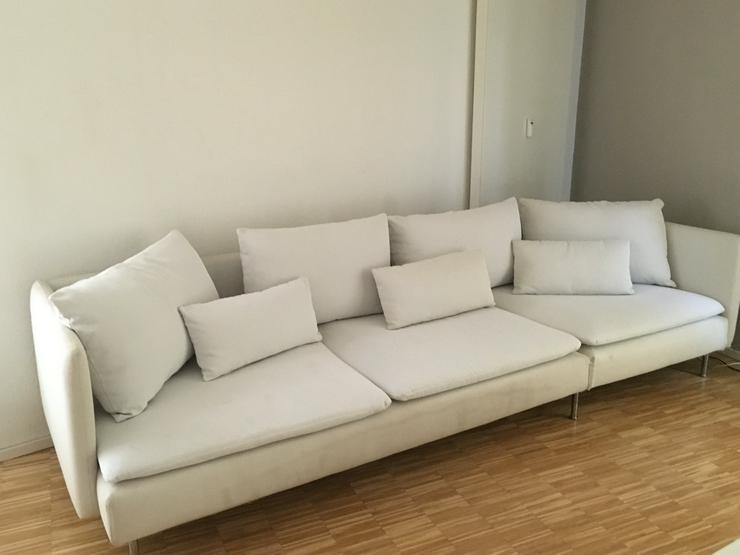 Ikea Couch Sofa SÖDERHAMN Finsta/Weiß