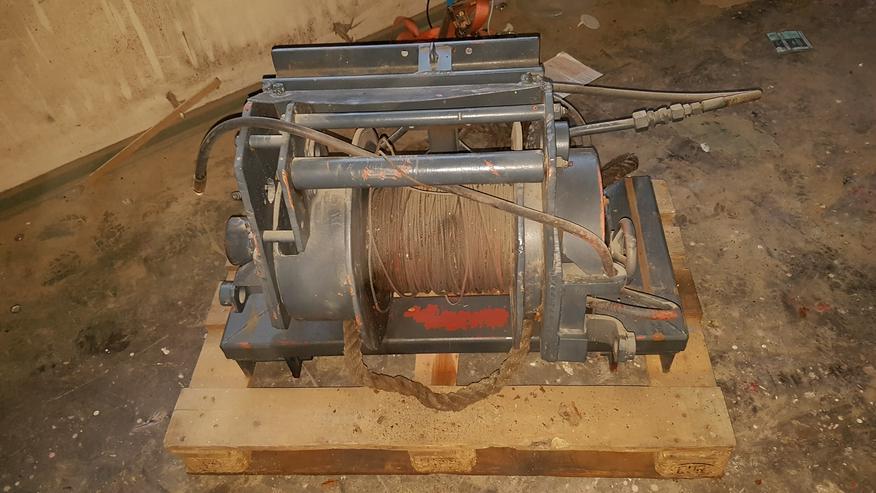 Hydraulische Seilwinde mit Stahlseil, Unimog, Schlepper, Traktor, Forst, Offroad