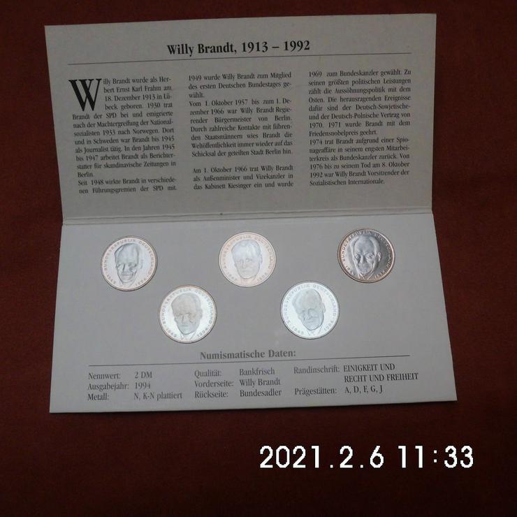 2 DM Willy Brandt 1994 kompletter Satz - Deutsche Mark - Bild 1