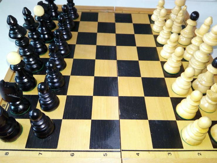 Bild 2: Schach spiel aus holz € 15+ porto