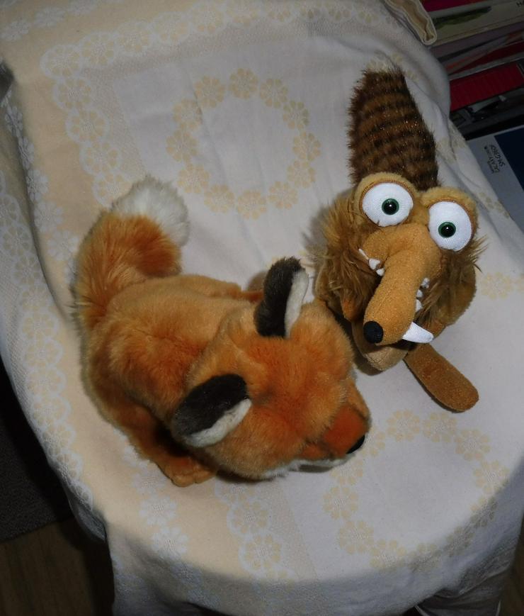 Eiszeit Pluschtiere Kuscheltier Scrat + Fuchs
