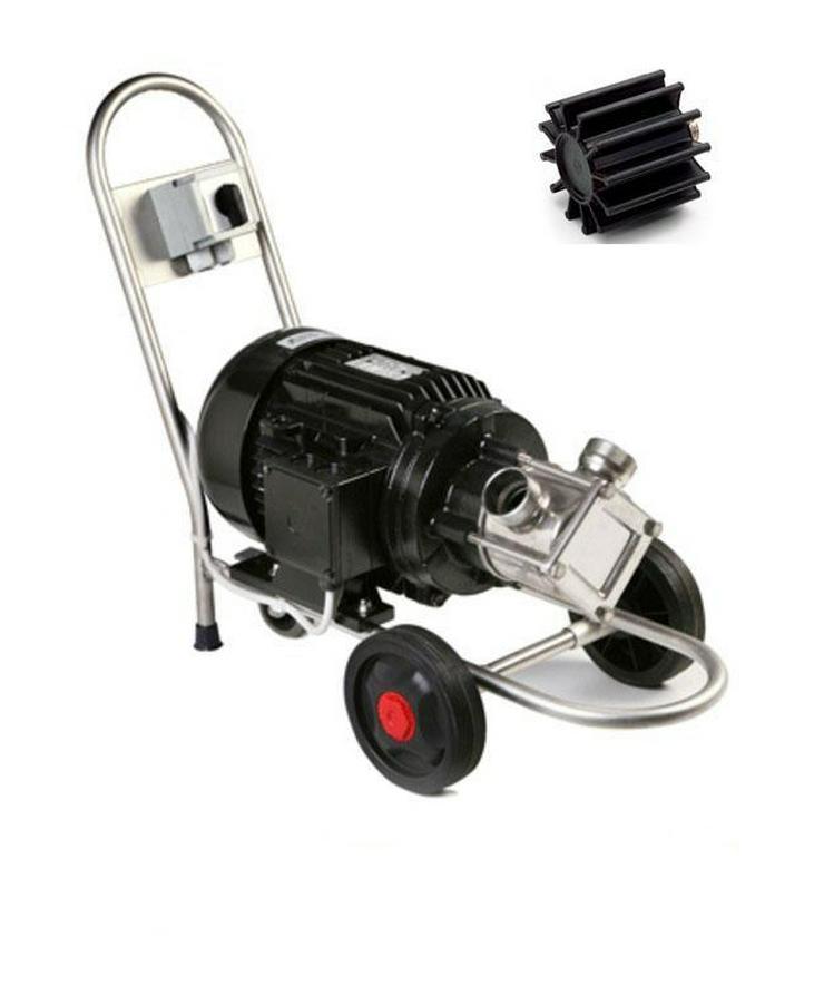 Impellerpumpe, Pumpe für Teichreinigung, Schlammsauger Krenn MENC G/60, 4.200 l/ h, 230V, samt Wagen, Teichpumpe