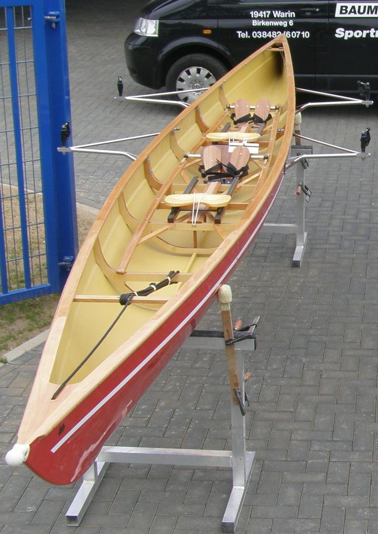 Ruderboot mit Rollsitz, E-Zweier ohne Steuermann