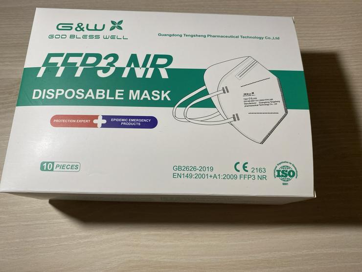 FFP3 NR Masken Mundschützen 10 EUR pro 10 Stk.