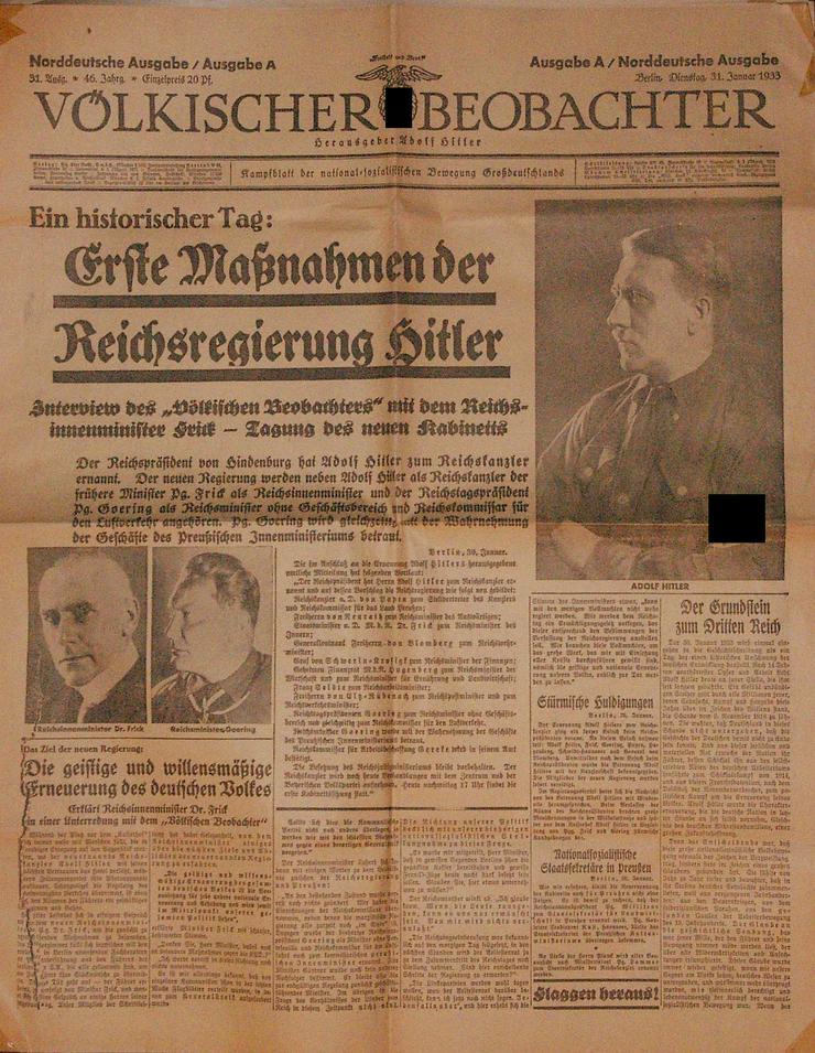 Völkischer Beobachter 31. Januar 1933