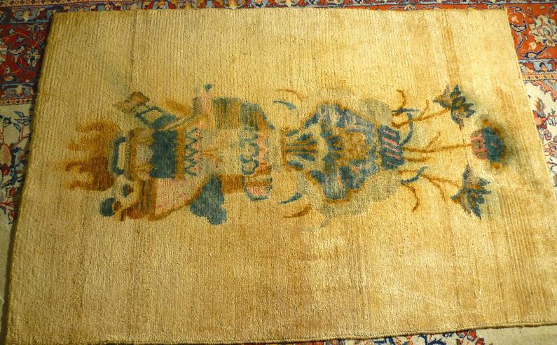 Orientteppich Tibet Meditations-Teppich (Khaden) antik (T106)