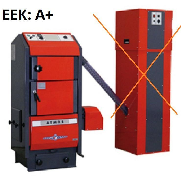 1A Atmos Pelletkessel P 30 + Holz Notbetrieb + Brenner + Schnecke