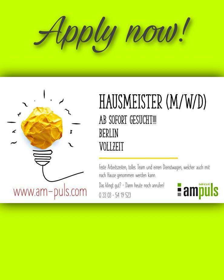 Hausmeister (m/w/d) Montag - Freitag
