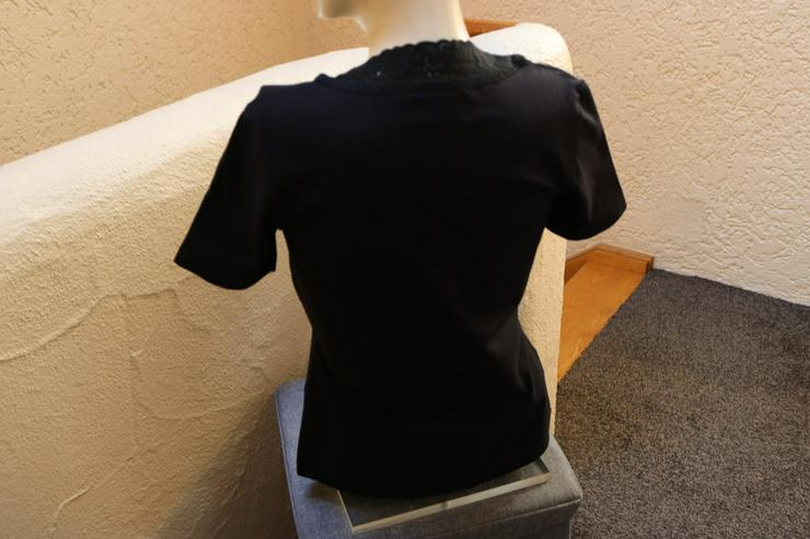 Bild 3: Shirt m. Spitze, Gr. 38, schwarz, Helline