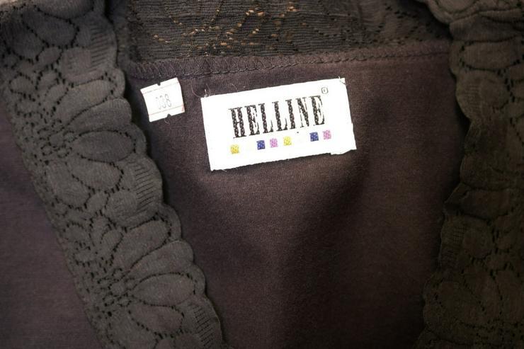 Bild 4: Shirt m. Spitze, Gr. 38, schwarz, Helline