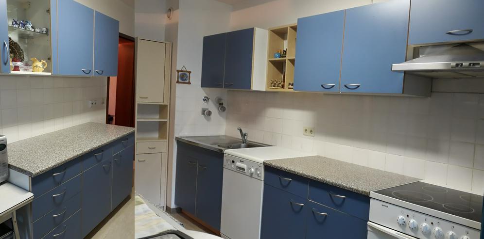 10-tlg Küchenmöbel, Küchenschränke + Spüle, blau, ohne E-Geräte, guter Zustand, günstig