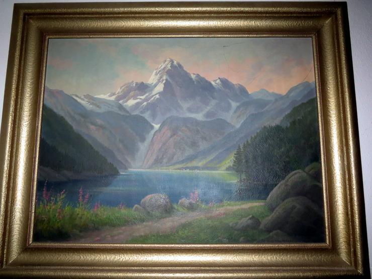 Altes Ölgemälde 97*78 Holzrahmen Am Obersee Gerhard Eichorn Dresdner Maler signiert - Weitere - Bild 1