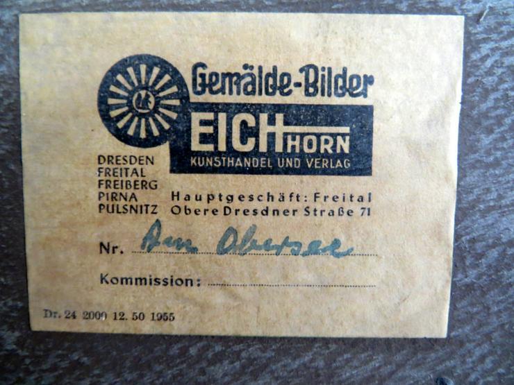 Bild 3: Altes Ölgemälde 97*78 Holzrahmen Am Obersee Gerhard Eichorn Dresdner Maler signiert