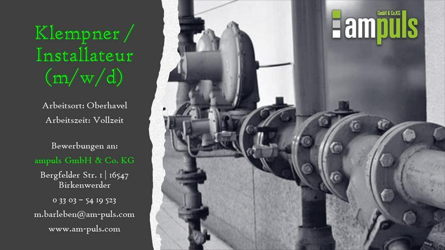 Klempner/Installateur (m/w/d)