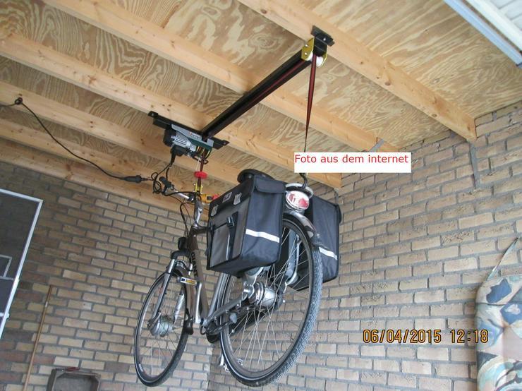Bild 2: Elektrischer Fahrradaufzug Fahrradseilzug   Deckenlift Rolleraufzug