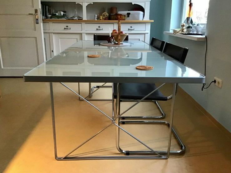 ''IKEA'' Glastisch - Industriedesign - schön & gross - TOP - NP.650€