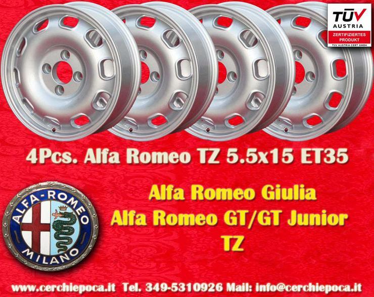 4 felgen Alfa Romeo Giulia TZ 5.5Jx15 ET35 4x108 mit TUV