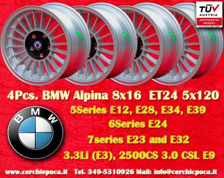 1 Satz. 4 Stk. 8x16 ET24 BMW Alpine Serie 5 6 7/er