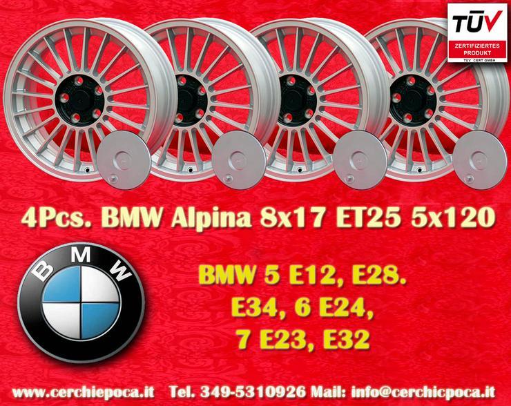 4 Stk. Felgen BMW BBS Design 8x17 5x120 ET25 Silber mit TUV