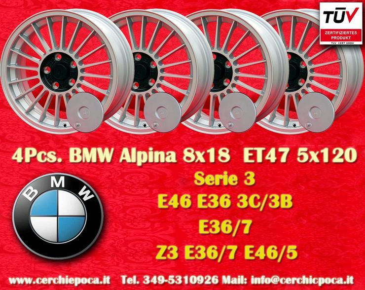 1 Satz. 4 Stk. 8x18 ET47 BMW Alpine Z3 E36 E46