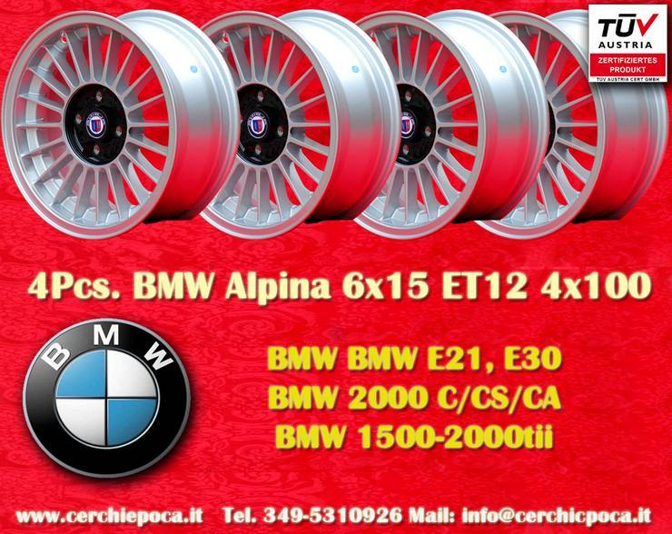 4 Stk BMW Alpine Design 6x15 4x100 Silber Felgen
