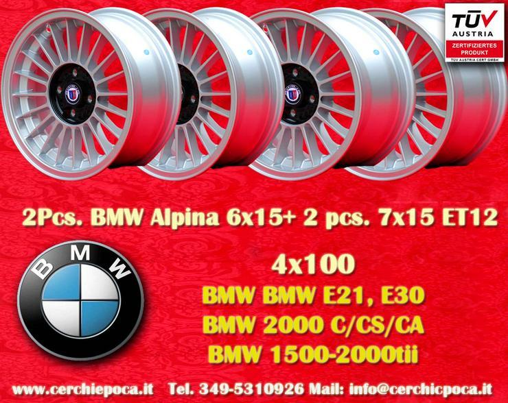 BMW Alpine Felgen 2 Stk 6x15+2Stk 7x15 4x100 ET12