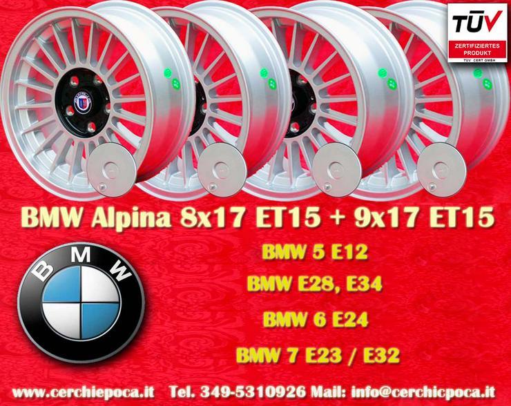 4 Stk Felgen BMW E12 E28 E34 E24 E32 E23 8x17 ET15/9x17 ET15