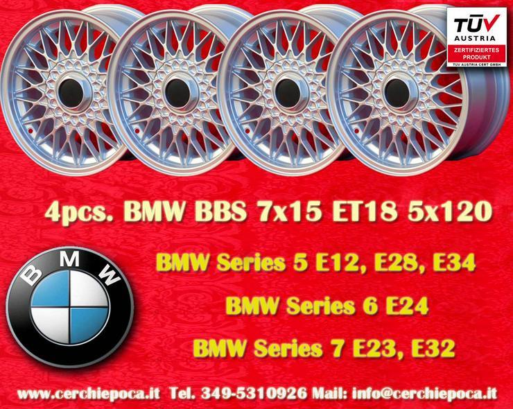 4 Stk. Felgen BMW BBS Design 7x15 5x120 ET18 Silber mit TUV