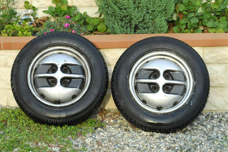 2 Felgen Fiat Ritmo 60 CL mit Originals Reifen 145/70