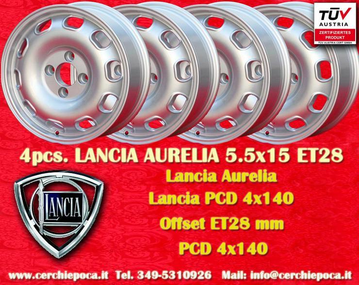 4 Felgen Lancia Aurelia Tecnomagnesio Style 5.5x15 ET28