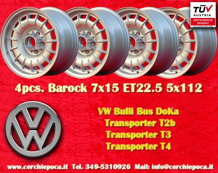Felgen Volkswagen Fuchs Barock 7x15 ET23 5x112 TUV