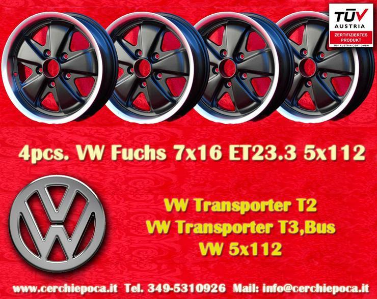 4 stuck Volkswagen Fuchs 7x16 5x112 Felgen mit TuV