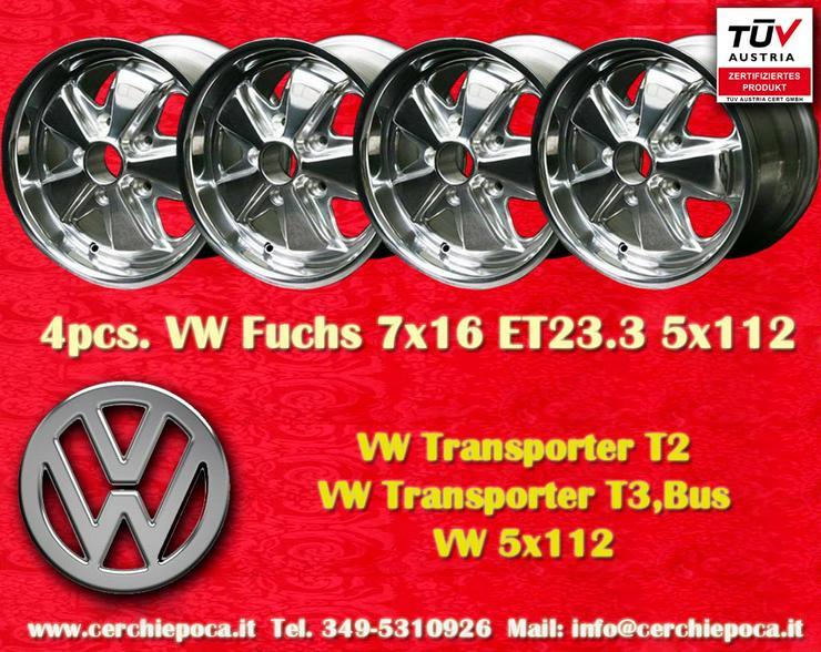 4 stuck Volkswagen Fuchs 7x16 ET23.3 Felgen Poliert