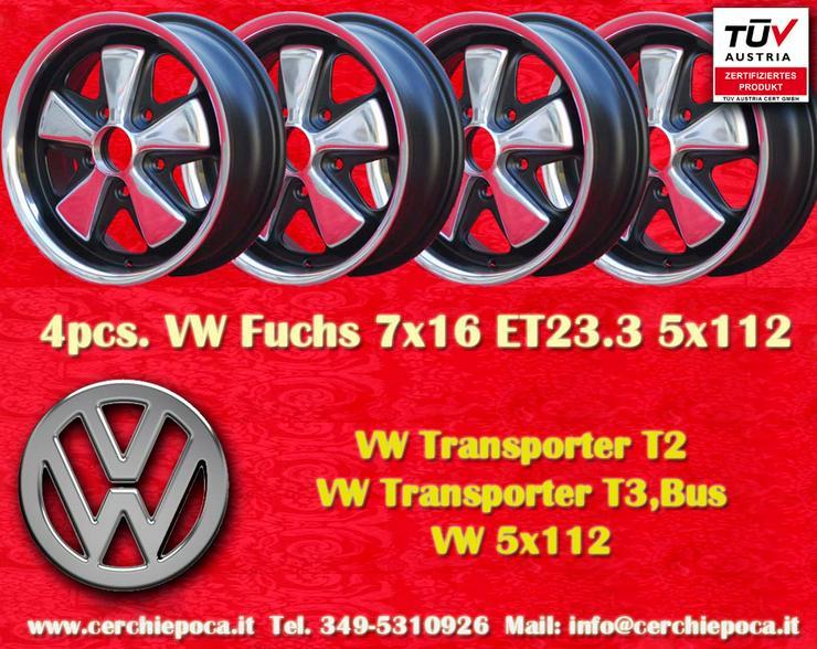 4 Stuck Volkswagen Fuchs 7x16 ET23.3 Felgen TUV