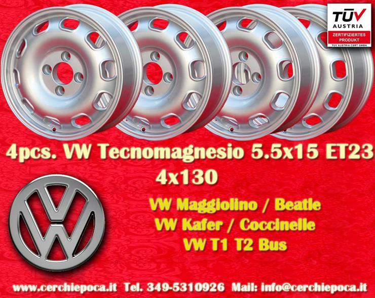 4 Felgen Volkswagen 5.5Jx15 ET23 4x130 TEILEGUTACHTEN