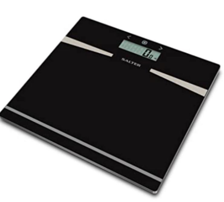 SALTER Badezimmerwaage zur Körperanalyse, Körperfett, BMI NEU