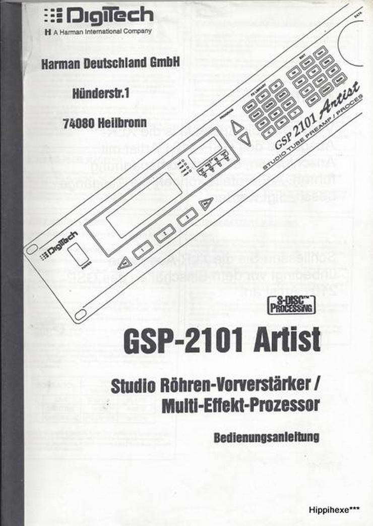Bedienungsanleitung deutsch für DigiTech GSP 2101 Artist Owner's Manual  Gitarren Multi Effects Processor
